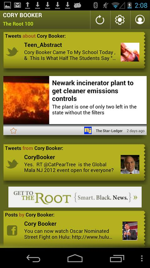Cory Booker: The Root 100 - screenshot