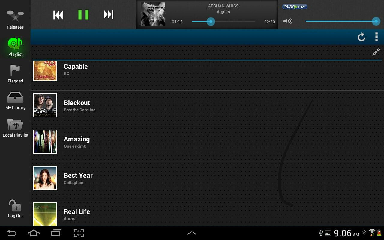 Play MPE® Player - Tablet- screenshot