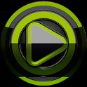 Poweramp skin Black Lime icon