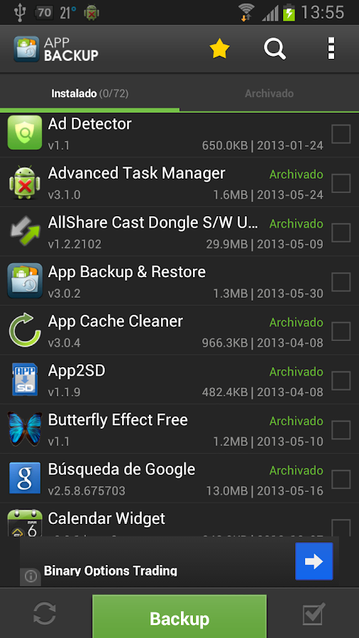 App Backup & Restore - español - screenshot