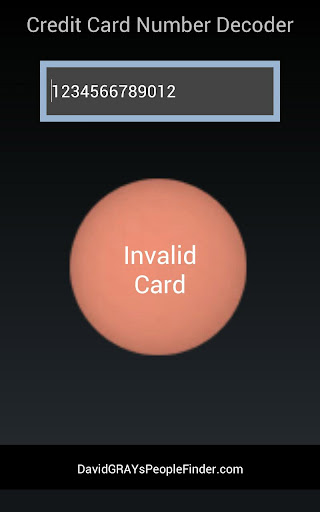 Credit Card Validation for PC