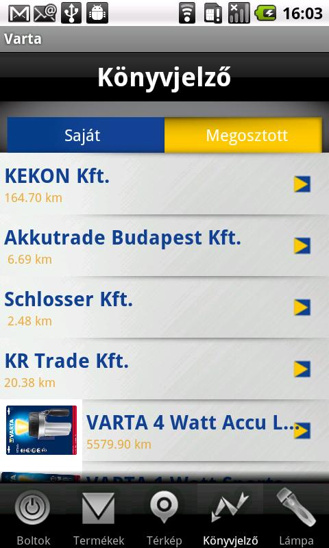 Varta- screenshot
