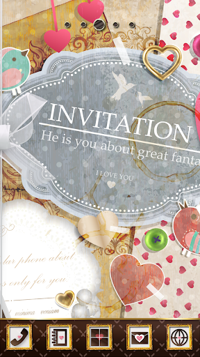 Invitation to Girly Theme