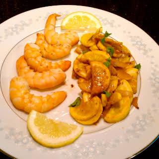 Lemon Yellow Squash with Shrimp.