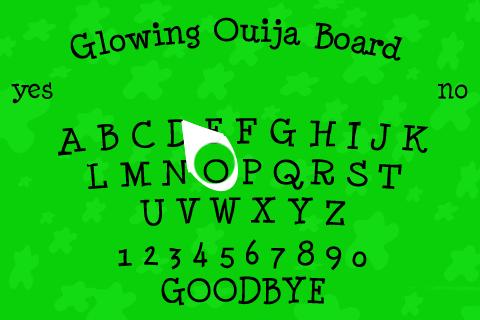 Glowing Ouija Board