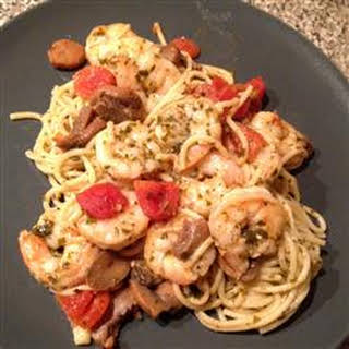 Garlic Shrimp Pasta.