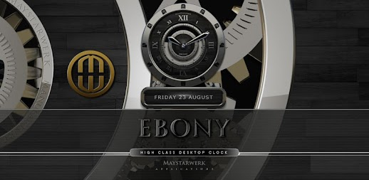 Luxus Ebony HQ Clock Widget APK