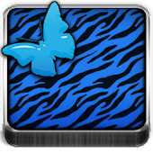 THEME - Blue Zebra Butterfly