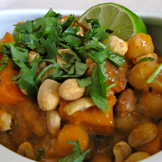 Ancient African Spice - Berbere spiced Chickpea, Yam, Mango Stew.