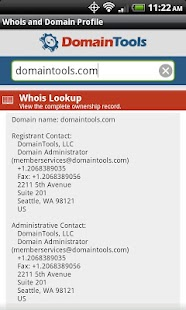 DomainTools Whois Lookup - screenshot thumbnail