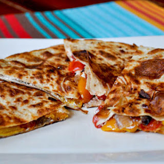 Roasted Veggie & Goat Cheese Quesadilla.