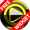 Poweramp widget BLACK YELLOW icon
