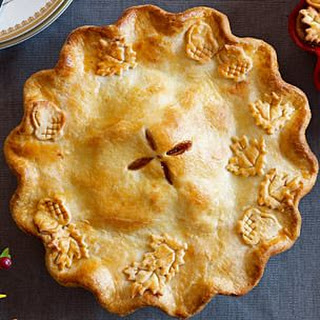 Apple-Ginger-Cranberry Pie with Vanilla Ice Cream