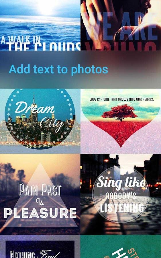 photos with text
