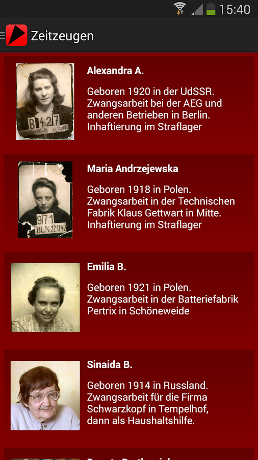 Zwangsarbeit – Screenshot