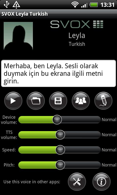 SVOX Turkish/Türk Leyla Voice - screenshot