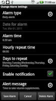 Screenshot of Alarm Clock/Personal Assistant