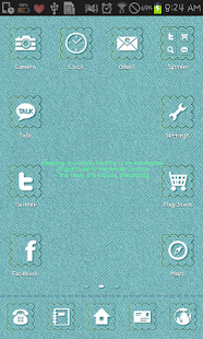 Fabric Cloud go launcher theme - screenshot thumbnail