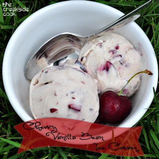 Cherry Vanilla Bean Ice Cream