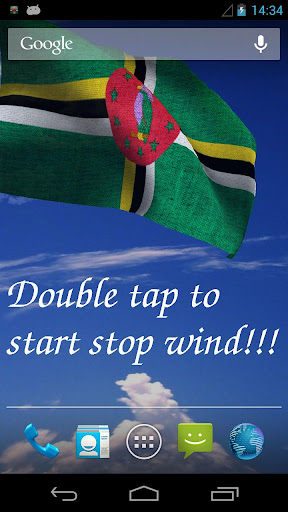 3D Dominica Flag LWP
