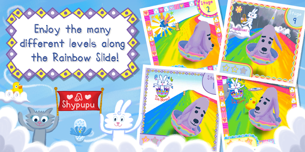 Thunder Bunny's Rainbow Slide- screenshot thumbnail
