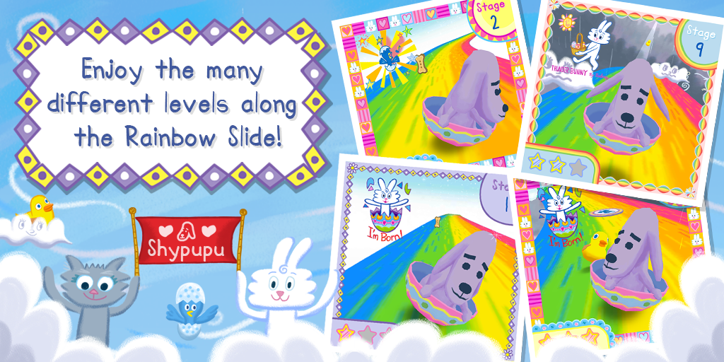 Thunder Bunny's Rainbow Slide- screenshot