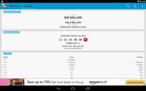 Mega Millions & Powerball - screenshot thumbnail