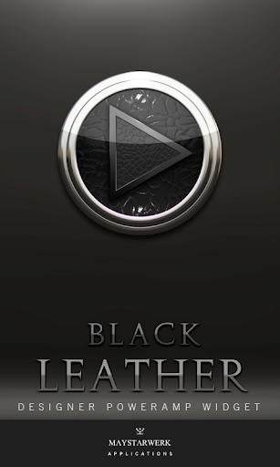 Poweramp Widget Black Leather