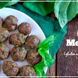 Pesto Meatballs (gluten and grain free, Paleo)