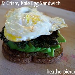 Avacado, Egg, & Crispy Kale Sandwich