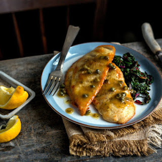 """Chicken """"Piccata"""" With Chard or Beet Greens"""