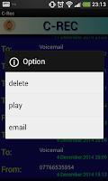 Screenshot of C-Rec call recorder