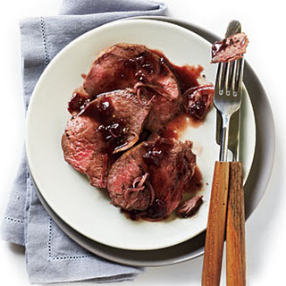 Beef Tenderloin with Cherry-Black Pepper Sauce.