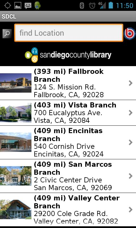San Diego County Library- screenshot