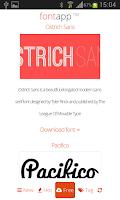 Screenshot of Kreativ Font App
