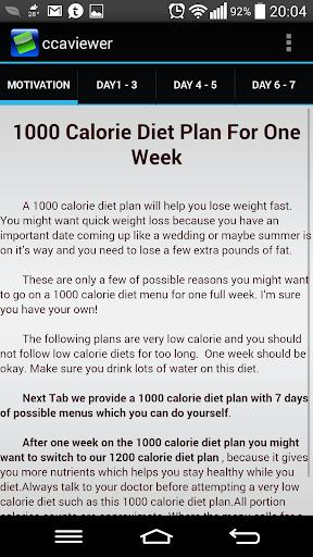 【免費健康App】Diet Plan 1 week 1000 Calories-APP點子