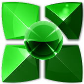 Next Launcher Them GREEN METAL