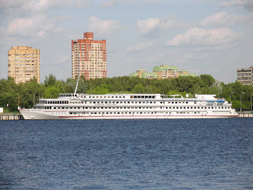Viking-Truvor-Northport-Moscow - The river cruise ship Viking Truvor at Severnyi River Port, Moscow, Russia.