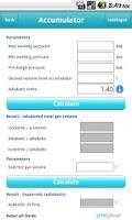 Screenshot of Hydraulic calculations