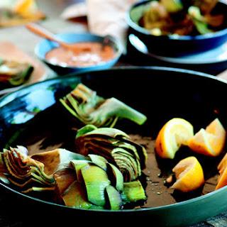 Artichokes with Lemon Za'atar Dipping Sauce