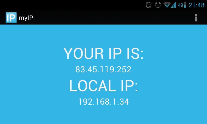 myIP - screenshot