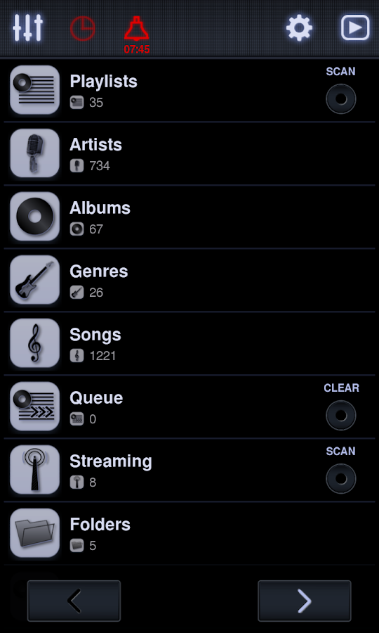 Neutron Music Player- screenshot