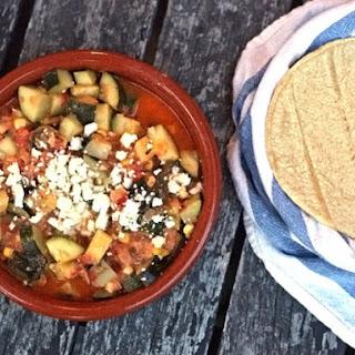 Rick Bayless's Zucchini, Corn, and Poblano Tacos