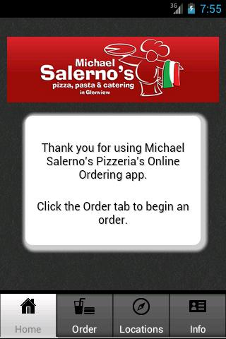 Michael Salerno's Pizza, Pasta- screenshot
