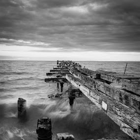 by Mark Anolak - Buildings & Architecture Decaying & Abandoned ( chile, b&w, punta arenas, ruins,  )