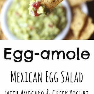 Egg-amole (Mexican Egg Salad with Avocado and Greek Yogurt)