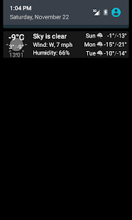 Weather notification - screenshot thumbnail