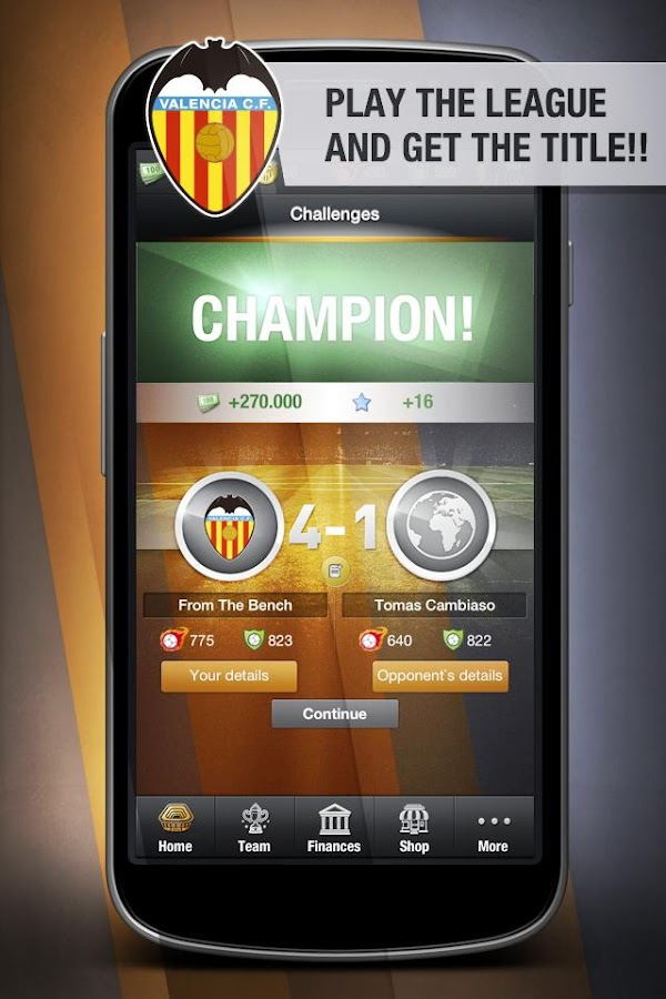 Valencia CF FantasyManager '14 - screenshot