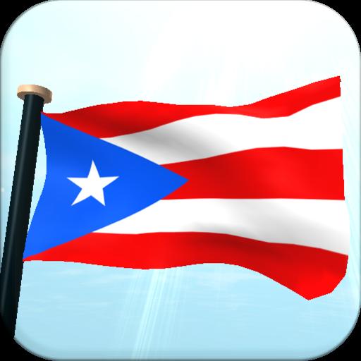 波多黎各旗3D動態桌布 LOGO-APP點子