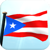 Puerto Rico Flag 3D Wallpaper